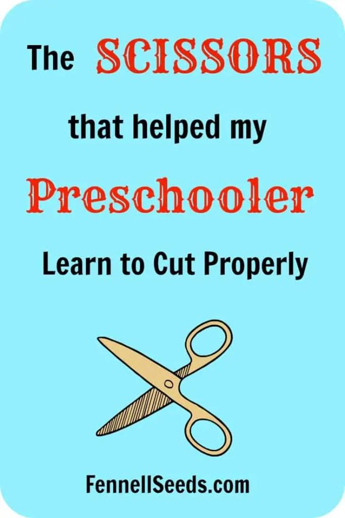 Preschool Scissors that teach proper technique