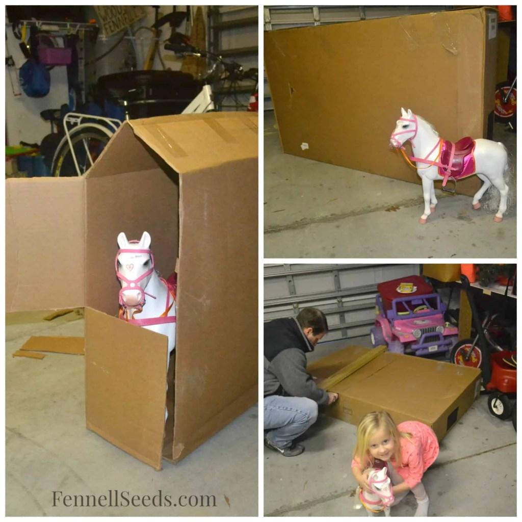 DIY Cardboard Box Stable