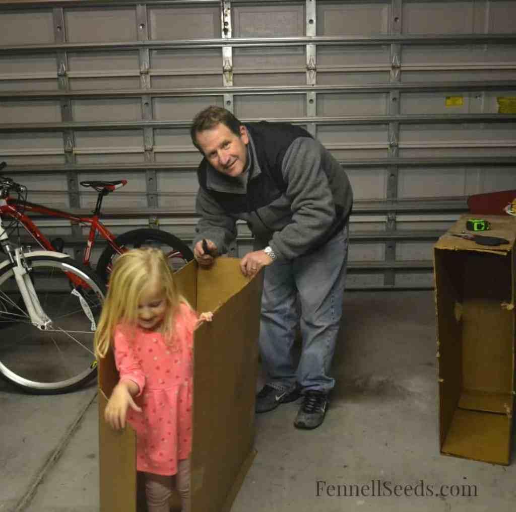 Daddy Cardboard Box Stable