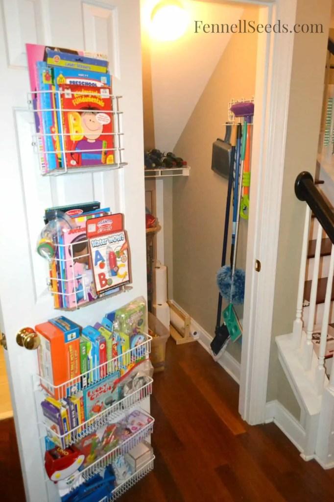 Craft Closet Organized Door - Fennell Seeds
