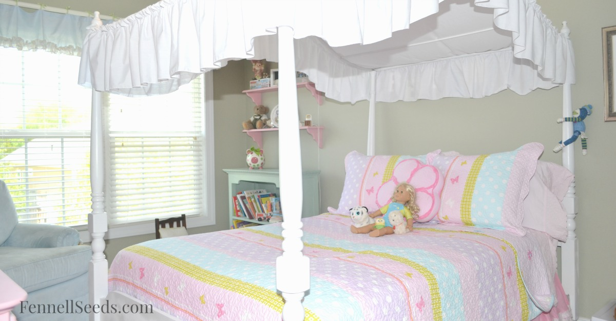 My Little Girls Pink And Blue Bedroom I Ordered
