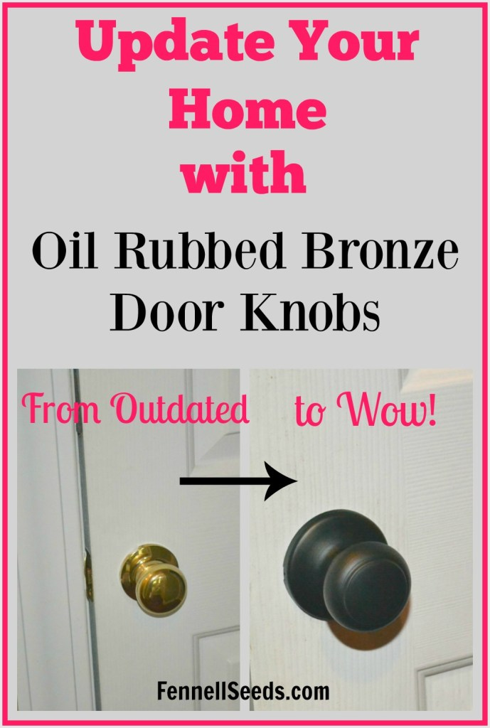 I have been thinking of updating to oil rubbed bronze door knobs. I love all these options. It makes my home look brand new.