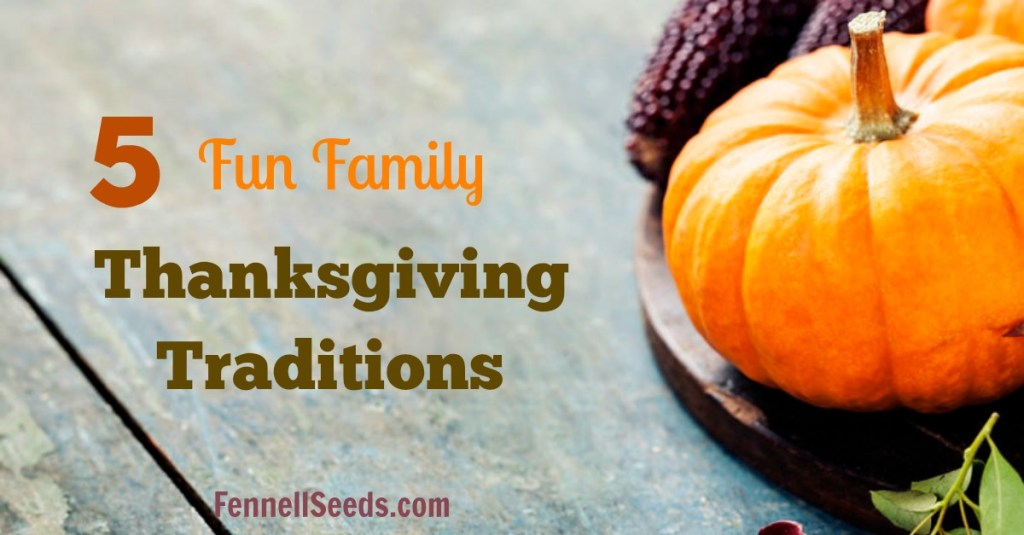 Get everyone away from their separate iPads and TVs with these 5 fun family thanksgiving traditions. Make the day even more fun and memorable. I really love the first one for the kids.