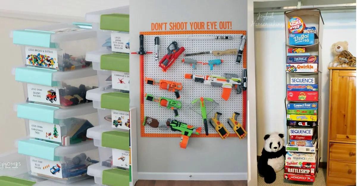 Organization Hacks Part - 27: Toy Organization | Toy Storage | Organize Kids Rooms | Organized Playroom |  Playroom Organization