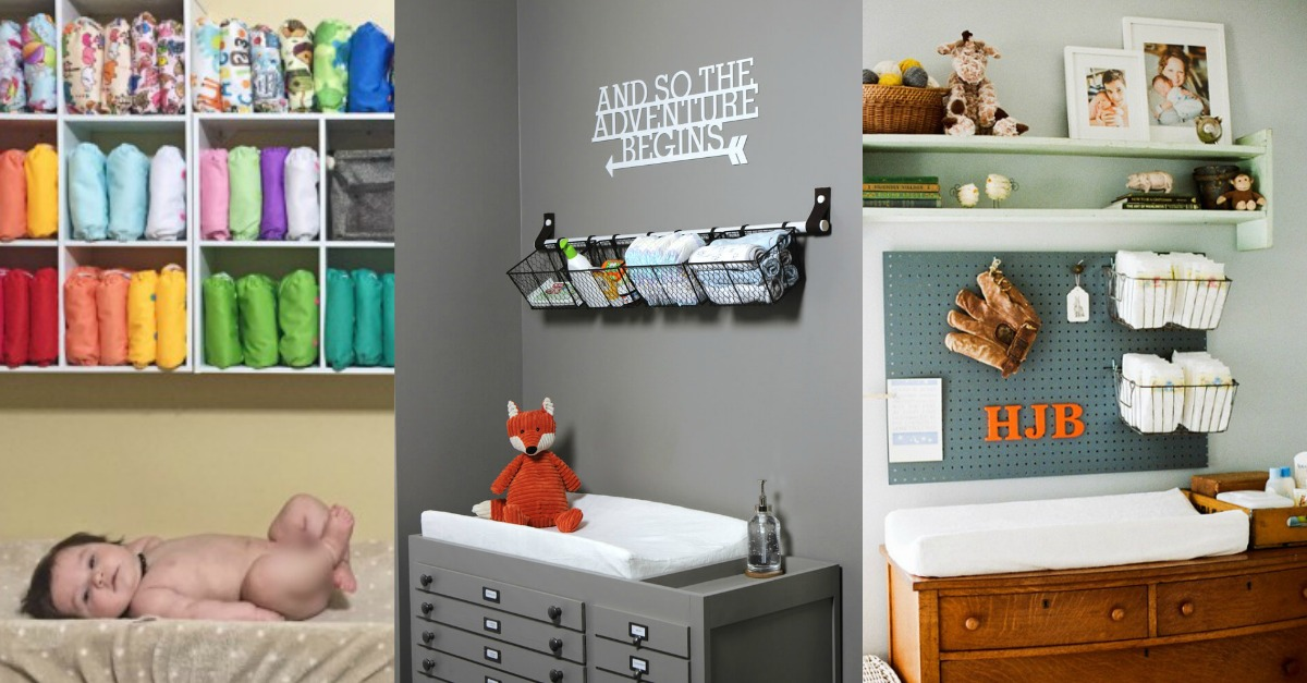 9 Most Inspirational Amp Organized Changing Tables To Make