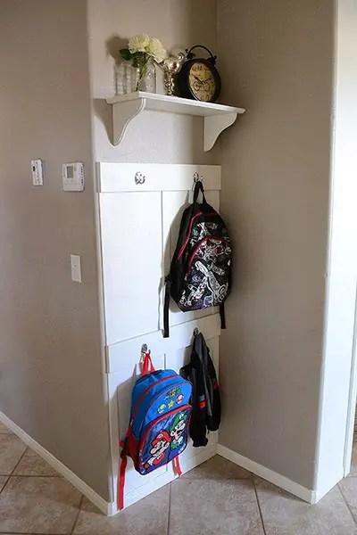 Backpack storage | Backpack storage ideas | Coat storage | Coat rack | coat hook | backpack hook | place for backpacks