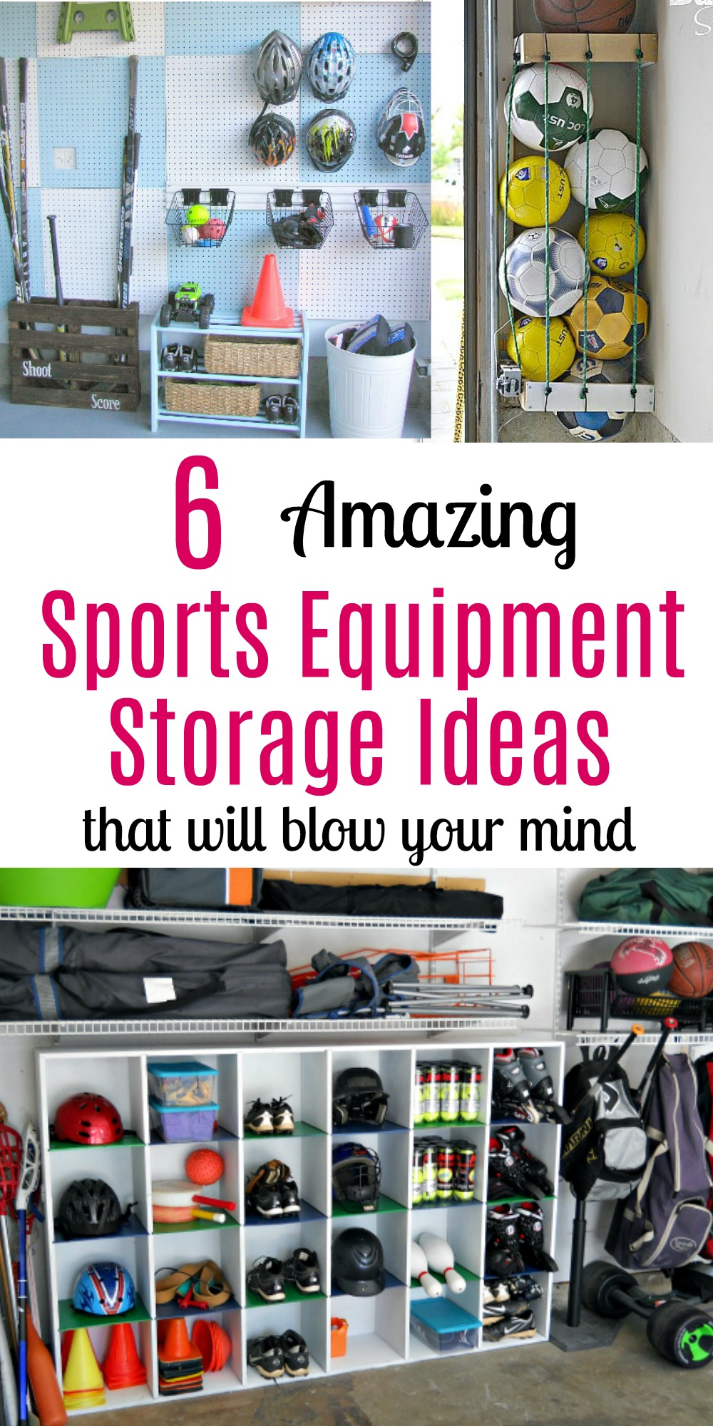 garage sports storage 6 amazing sports equipment storage ideas that will 15731