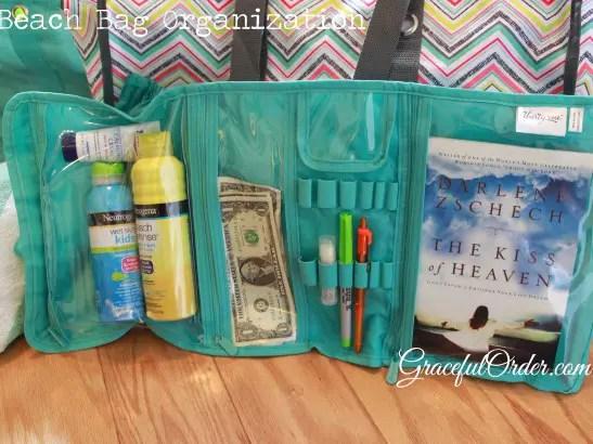 pool bag organization | beach bag organization | organize your beach bag | pool bag ideas | beach bag ideas