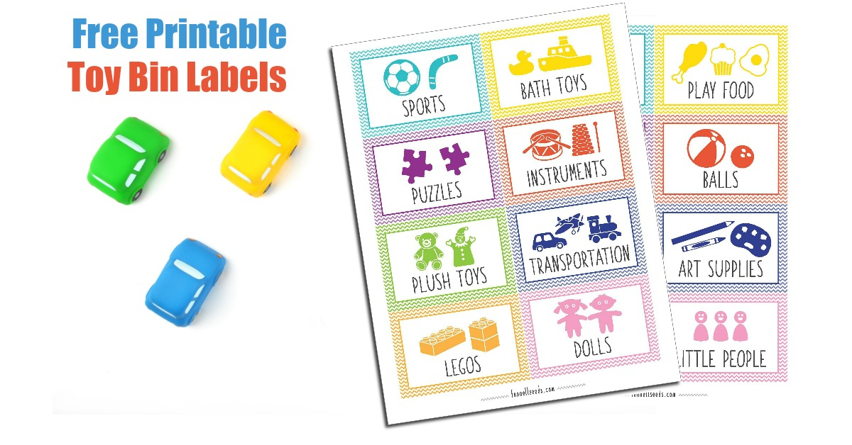 photo about Free Printable Organizing Labels called Printable Toy Bin Labels That Are Lovable And No cost