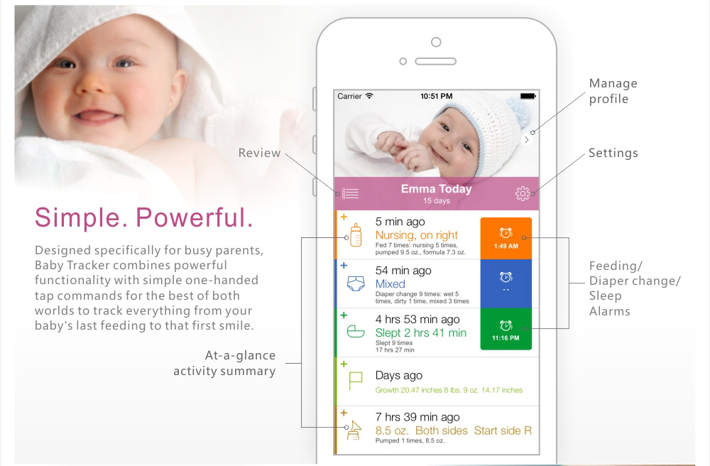 Baby tracker app | Baby Tracker app can help keep all the information you need accessible and easy to enter.