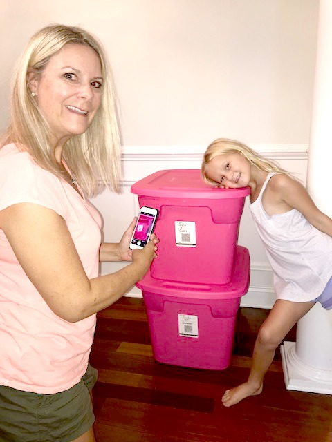Duck Pack & Track is great for organizing moving boxes plus hand-me-downs.