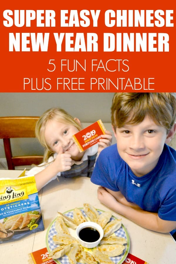 Easy Way to Celebrate Chinese New Year. #ad 5 Fun Facts plus free printable. #LingLingAsian #LL