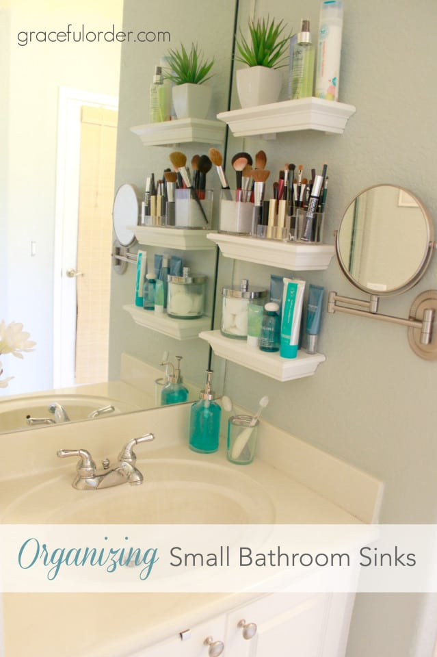 Bathroom Storage Hacks to help make your mornings easier.