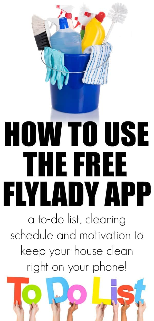 How to use the FlyLady App to keep your house in order with small daily tasks. A to-do list, cleaning schedule and motivation to keep your house clean by using this Flylady app. .