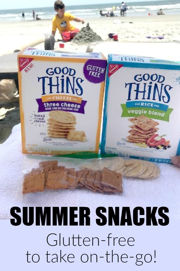 Gluten free snacks that are easy to take on-the-go this summer. #ad GOOD THiNS taste great. #GlutenFreeGOODTHiNS #IC