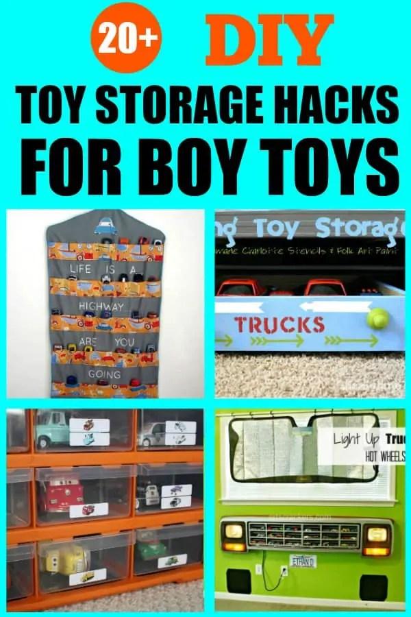 How to organize boy toys. I love all these ideas for DIY toy storage especially for boy toys. #toystorageideas #toyorganization