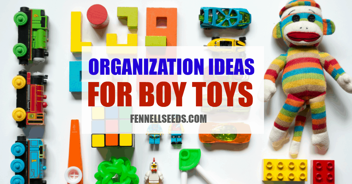 How to organize boy toys. I love all these ideas for DIY toy storage especially for boy toys.