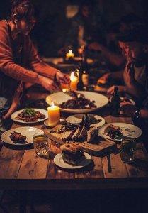gyertyafényes vacsora 100fenntarthato
