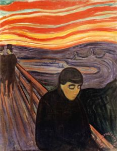 Despair 1894 Painting by Edvard Munch; Despair 1894 Art Print for sale