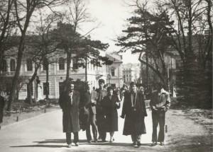 Danilo Kiš sa prijateljima na Kalemegdanu