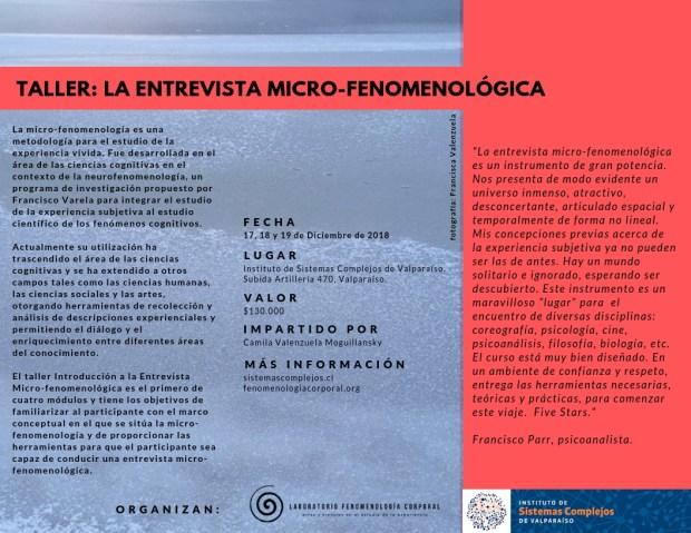 Módulo 1 Formación entrevista microfenomenológica