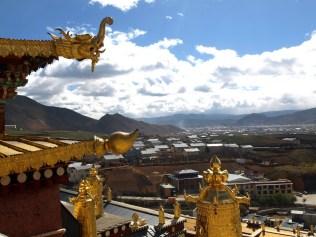 Vue du haut du monastère Songzanlinsi