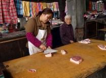 Sur le marché de Qiaogou