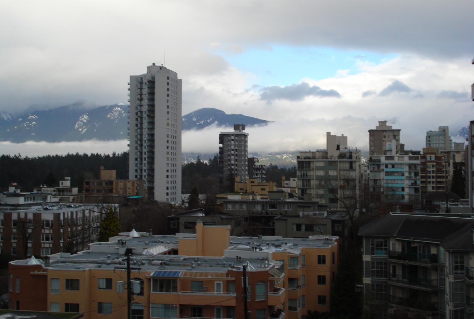 View from his Vancouver apartment