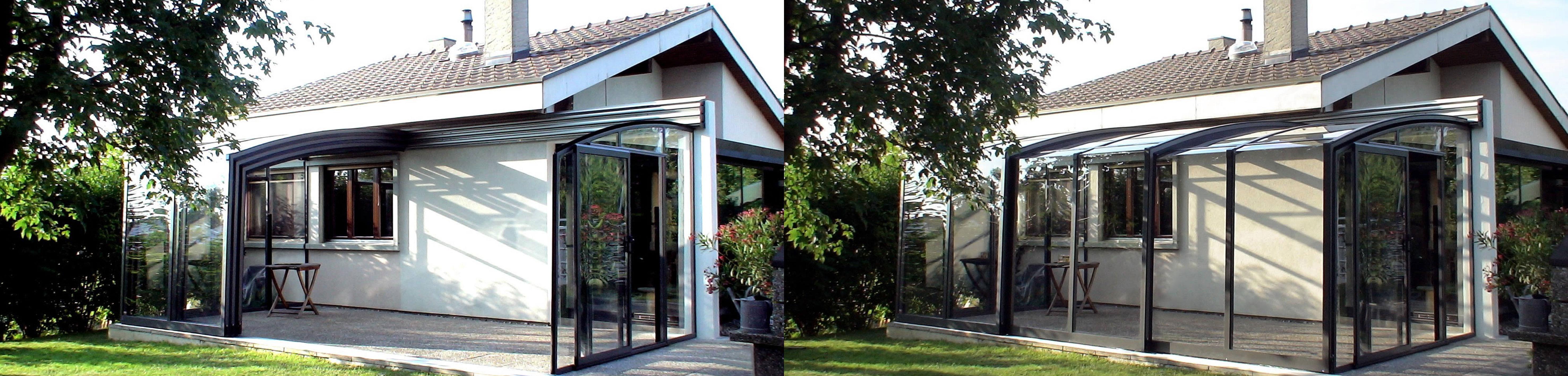 Terrassendach - Terrassenüberdachung - verschiebbar