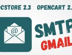 OcStore 2.3 настроить почту через smtp