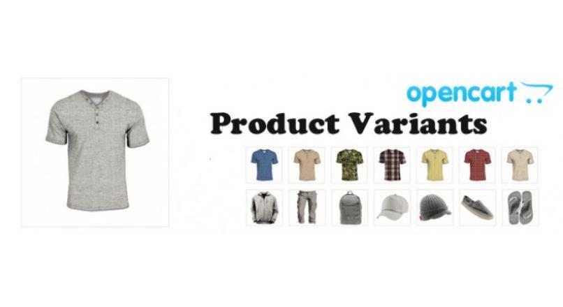 Product Variants / Варианты товара Opencart 2.x-3.x