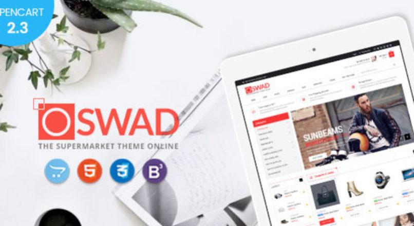 Oswad — Responsive Supermarket Online Opencart 2.3 Theme