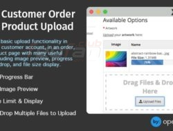 Customer Order Product Upload