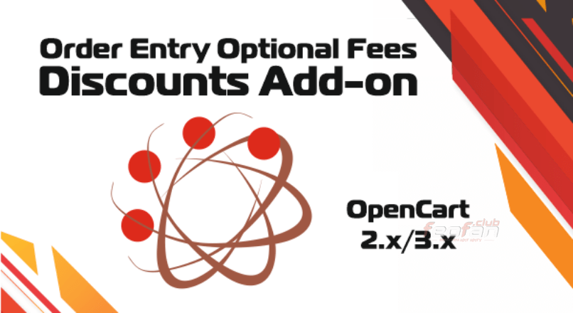 Order Entry Optional Fees / Discounts Add-on for OpenCart 2.x/3.x