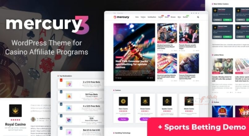 Mercury — Gambling & Casino Affiliate WordPress Theme. News & Reviews