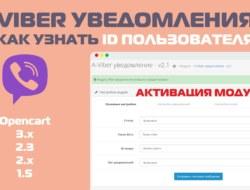 Viber уведомления 2.1 — Как узнать id пользователя Viber АКТИВАЦИЯ!!!