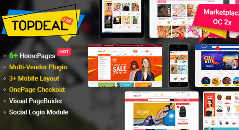 TopDeal — MarketPlace | Multi Vendor Responsive OpenCart 3 & 2.3 Theme with Mobile-Specific Layouts V_1.0.5