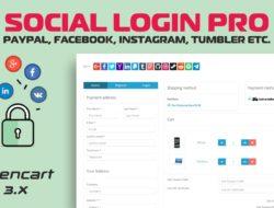 Social Login PRO (PayPal, Facebook, Instagram, Tumbler etc.) v7.0.6 Null