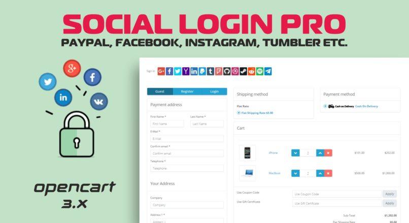 Social Login PRO (PayPal, Facebook, Instagram, Tumbler etc.) v7.0.6