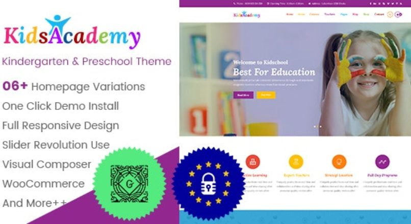 KidsAcademy — Kids, Kindergarten & Preschool WordPress Theme v.1.3.4