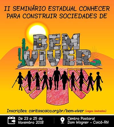 Cartaz do II Seminário Estadual Conhecer para Construir Sociedade de Bem Viver