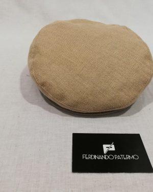 Coppola Patermo in puro Lino, color Sabbia, uomo donna, qualità artigianale