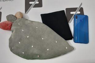 Pochette Patermo Fico d'India in Pelle scamosciata, altissima qualità artigianale, borsa unica esclusiva