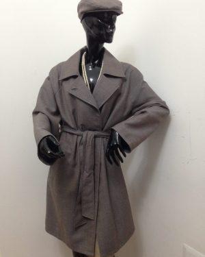 Cappotto Patermo Donna in tess Lana, colore nocciola, spolverino alta qualità artigianale