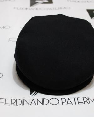 Coppola Patermo in pura Lana, colore Nero, uomo donna, cappello qualità artigianale