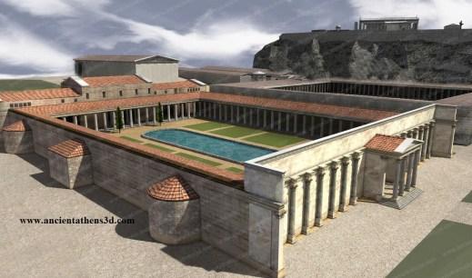 Reconstrucție, sursa: Ancient Athens 3D