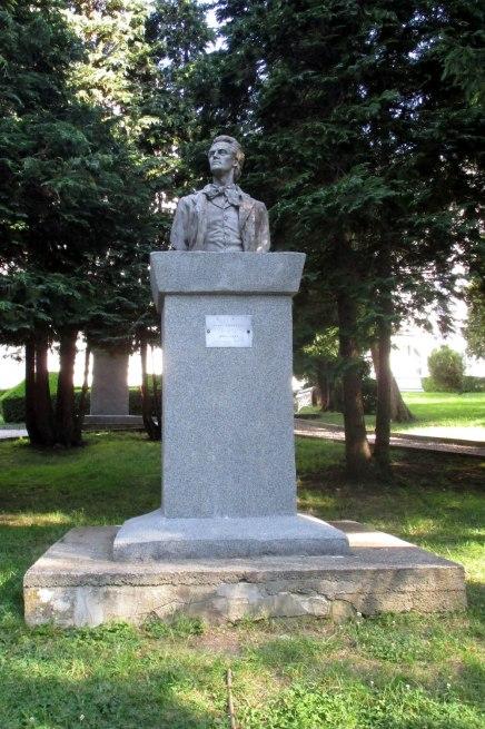 Statue of Mihai Eminescu, considered Romania's greatest poet