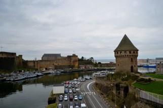 Castelul din Brest (stânga) și turnul Tanguy (dreapta)