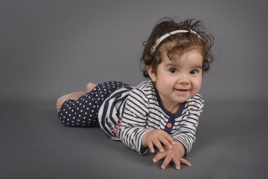 little girl on tummy
