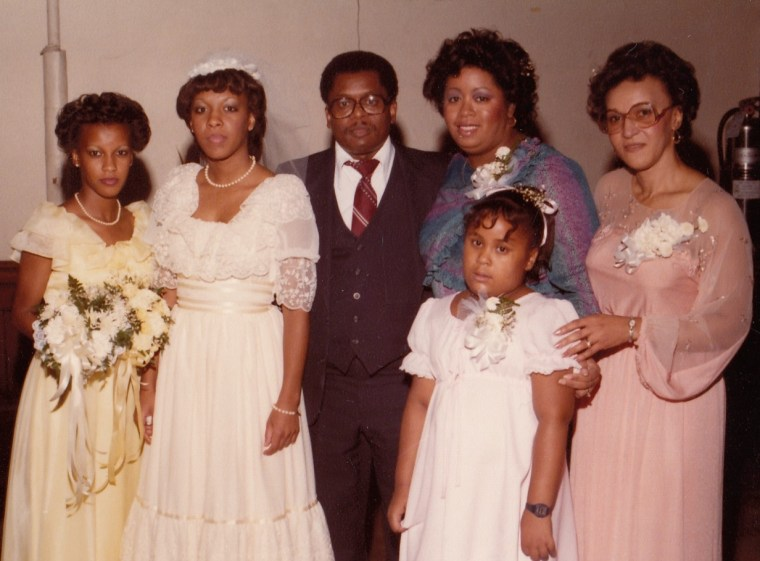 This family picture is an example of a wedding celebration.  Family weddings touch all of us.
